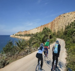 Bicycling on Crete while staying in Dimitra Hotel
